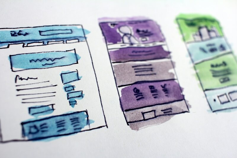 Drawing of Website Wireframe - Wordpress vs Wix